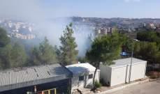 النشرة: اندلاع النيران في الاحراج المحيطة بمستشفى النبطية الحكومي