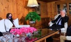 فرنجية استقبل السفيرة الأسترالية في لبنان وبحث معها الأوضاع الراهنة