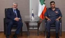 عثمان التقى رئيس الجامعة الأميركية في بيروت