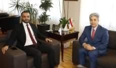 داود التقى سفير لبنان في أوكرانيا وعرض معه تطوير العلاقات في المجال الثقافي
