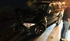 قتيل و10 جرحى في 4 حوادث سير خلال ساعة