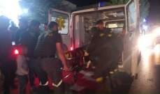 جريح جراء حادث صدم على طريق عام مجدل عنجر- الصويري