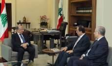 الرئيس عون عرض مع بطيش وصلاح عسيران الأوضاع الإقتصادية