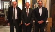 LBC: اللقاء الثلاثي استبق بمساع من عون والحريري لمواجهة الضغط على حزب الله