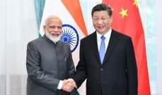 قمة غير رسمية بين رئيس الصين ورئيس وزراء الهند هذا الأسبوع في شيناي