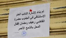 النشرة: إقفال محلين يشغلهما سوريون في صيدا وختمهما بالشمع الاحمر