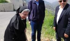 مدير عام وزارة الزراعة زار ضريح القديسة رفقا في دير مار يوسف
