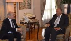 وزيرا خارجية مصر وفرنسا أكدا أهمية تشكيل الحكومة اللبنانية بأسرع وقت لبدء تنفيذ السياسات الإصلاحية