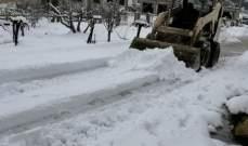 الطرقات المطوعة بسب تراكم الثلوج
