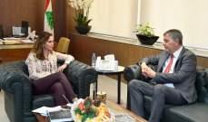 عبد الصمد عرضت مع لازاريني مشاريع اعلامية واستقبلت سفيري الاردن والارجنتين