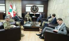 قائد الجيش استقبل سيناتور أميركي ووفداً بريطانياً وآخرا من الضباط المتقاعدين