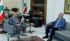 الرئيس عون عرض مع ديب للشؤون العامة واقتراحات القوانين المعروضة على مجلس النواب