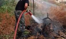 النشرة: الدفاع المدني اخمد حريق هشير خلف مجمع رستم في كفرجرة  شرق صيدا
