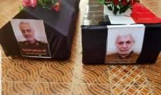 وصول جثمان سليماني ورفاقه الى طهران