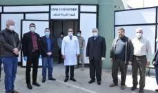 رعد بعد زيارة مراكز استقبال مرضى الكورنا بالنبطية: نخوض المعركة بعزم