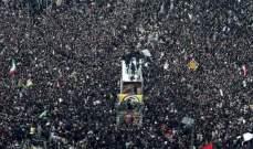 التلفزيون الإيراني: 35 قتيلا و48 جريحا في تدافع خلال جنازة سليماني في كرمان