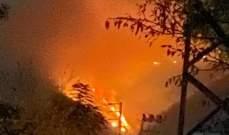 اندلاع حريق كبير في القيطع عكار والدفاع المدني يحاول السيطرة عليه