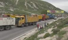 اعتصام لاصحاب شاحنات البحص والرمل بالبقاع الغربي رفضا لاجراءات القوى الأمنية