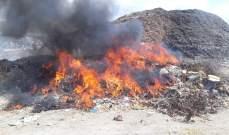 النشرة: حريق في اكوام من النفايات الملاصقة لجبل الردميات في سينيق