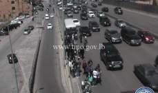التحكم المروري: تعطل باص لنقل الركاب على جسر انطلياس
