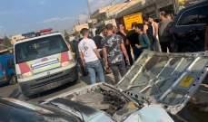 الدفاع المدني: ثلاثة جرحى جراء حادث سير على طريق عام قصرنبا