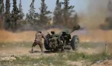 المرصد السوري: قتلى وجرحى من قوات النظام والفصائل باشتباكات وقصف بري على محاور سهل الغاب