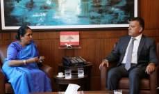 اللواء ابراهيم التقى سفيرة سريلانكا وعرض معها اوضاع الجالية