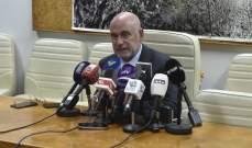 فنيانوس يتابع ورش عمل الوزارة في كافة المناطق اللبنانية