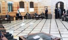 دياب وقع قرارا بتكليف الجيش الكشف على أضرار انفجار الطريق الجديدة