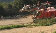 الجيش الاسرائيلي يقوم بأعمال حفر خلف السياج التقني في الجهة المقابلة لمحلة بئر شعيب