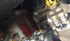 إخماد حريق داخل محل لبيع المأكولات في بربور ونقل عامل للمستشفى بعد إصابته بحروق