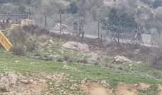 النشرة:أعمال صيانة للجيش الاسرائيلي في الجهة الشرقية لمستعمرة المطلة