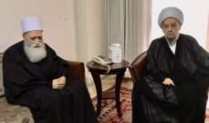 شيخ العقل زار الشيخ قبلان وتأكيد على الثوابت الميثاقية والوطنية
