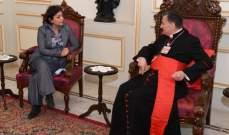 رشدي بحثت مع الراعي المستجدات اللبنانية وعقد مؤتمر دولي: الامم المتحدة مستمرة بدعم لبنان