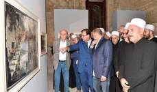 وليد جنبلاط افتتح معرض لوحات وصور عن الموحدين في قصر بيت الدين لجاك دبغيان