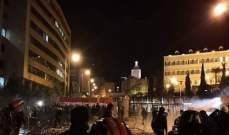 المحتجون أمام وزارة الداخلية توجهوا لساحة رياض الصلح للتضامن مع أهالي طرابلس