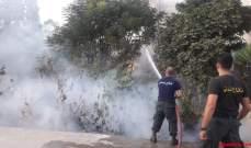 الدفاع المدني: إخراق حريق اعشاب في ضهور زحلة