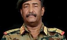 رئيس المجلس الانتقالي السوداني: يهمنا أن نصل إلى اتفاق بشأن ترتيبات المرحلة الانتقالية