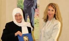 الحريري عرضت مع سفيرة ايطاليا الأوضاع العامة وسبل التعاون
