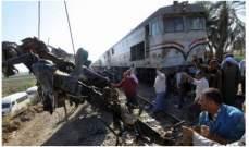 اصدام قطار بسيارة بيك اب على مفرق الصفصافة بطرطوس