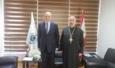 المدير العام لوزراة الزراعة بحث مع الاب توما عمل الرهبانية بالمجال الزراعي في المناطق اللبنانية