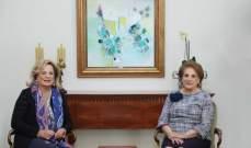 اللبنانية الاولى استقبلت زوجة سفير البرازيل والاميرة إيرا دي فورنستيىنبرغ