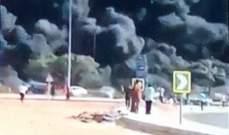حريق هائل في طريق القاهرة الإسماعيلية في مصر