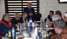 اجتماع في مركز اتحاد بلديات الحاصباني للحد من انتشار وباء الكورونا