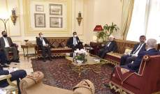 بري استقبل الوفد الوزاري العراقي والسفير التونسي والنائب منصور
