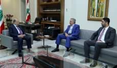 الرئيس عون التقى أرسلان والغريب وعرض معهما للأوضاع العامة في البلاد