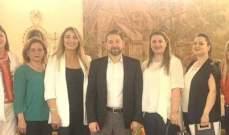 كرامي استقبل وفدا من اتحاد قيادات المرأة العربية فرع لبنان