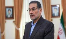 شمخاني شدد على أهمية الحوار مع طالبان بالتنسيق مع الحكومة الافغانية