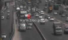 تعطل مركبة على جسر الكرنتينا باتجاه بيروت وحركة المرور كثيفة في المحلة