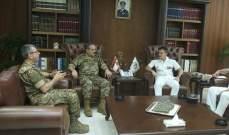 اللواء العرم التقى مسؤول العلاقات الخارجية بالقوات البحرية الفرنسية